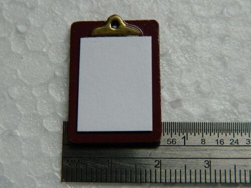 Casa de muñecas en miniatura 1//12th escala Portapapeles y papel D1431