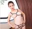 Sexy-Women-039-s-Lingerie-Set-with-Binding-Harness-Bra-Straps-Crop-and-Underwear 縮圖 2