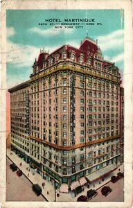 Vintage Postcard - 1937 Hotel Martinique Building Broadway New York NY #4980