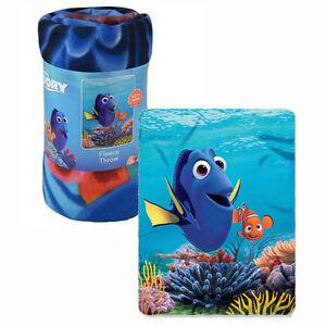 Disney-Blanket-Fleece-Throw-45-034-x60-034-Finding-Dory-Nemo-Blue-Ocean-Coral-Reef-NEW