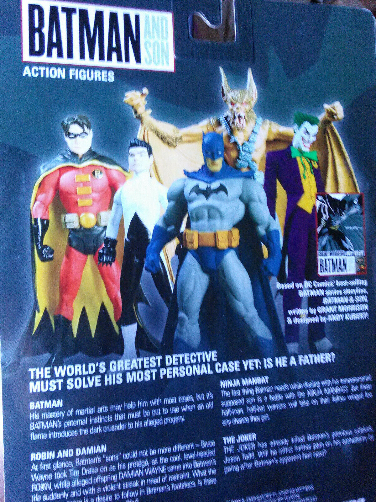 DC Direct Batman and Son Full Set Robin Damien Joker Ninja Manbat NEW