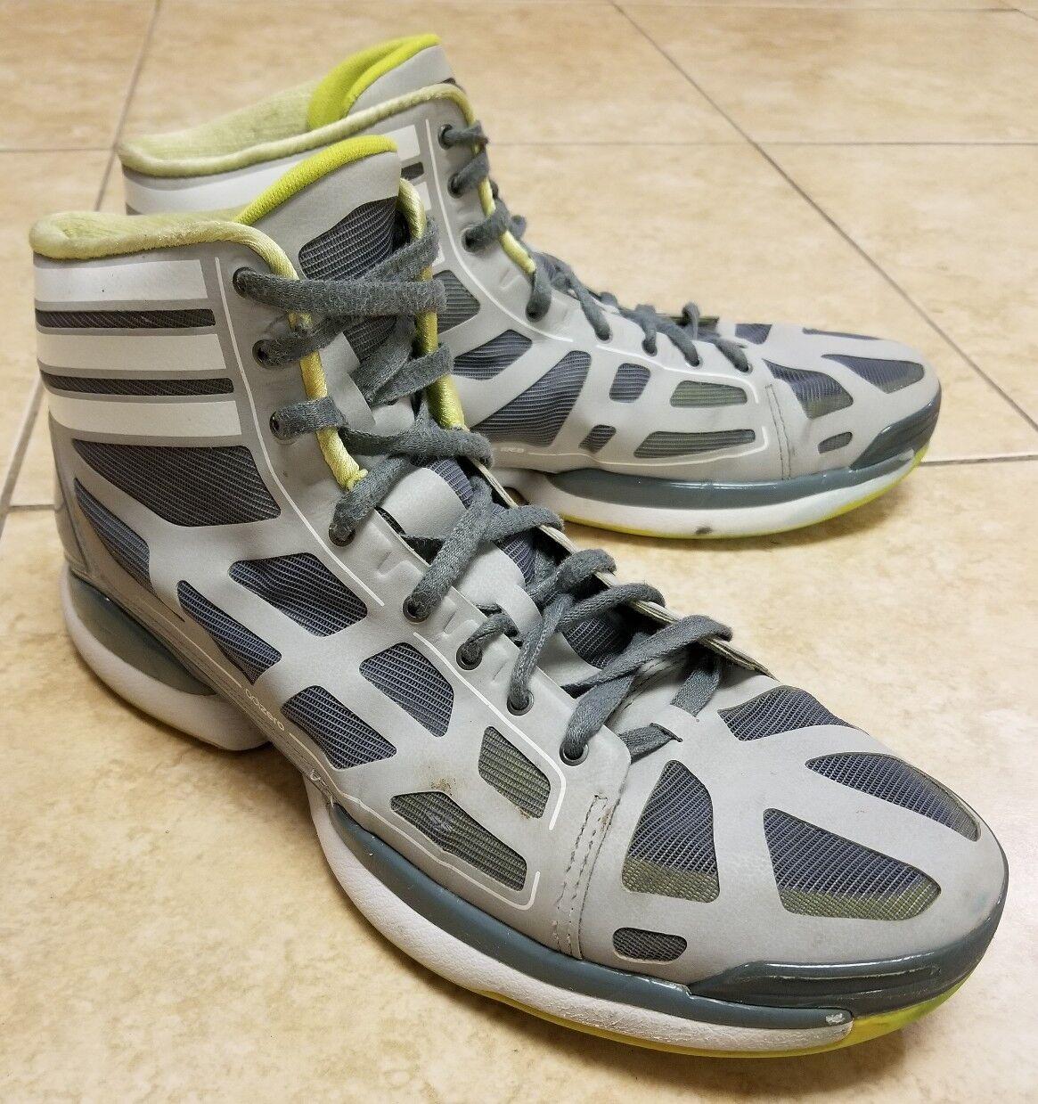 Adidas g22393 derrick rosa adizero forte grigio verde lime    scarpe da basket sz  13 | Ben Noto Per Le Sue Belle Qualità  984d5a