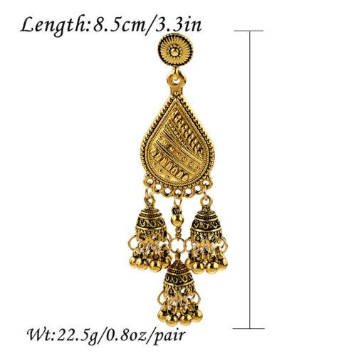 Fashion Indian Bollywood Earrings Jhumka Jhumki Gold Plated Wedding Jewellery