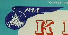 NOS Vtg Pan Am Pan American Airlines PAA Postcard Flying Clippers KP4JI Radio
