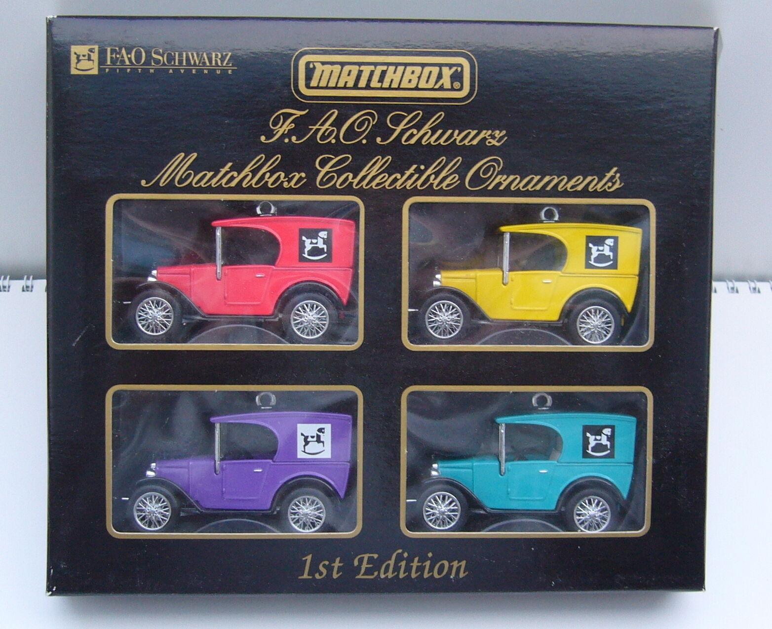 MATCHBOX-F.A.O. Noir Collectible Ornaments 1st Edition Limitée à 7.500