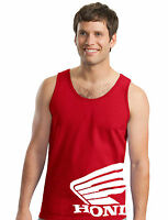 Honda Wing Tank Top Red T-shirt Motorcycle Racing Crf 250 450 600rr Trx Cbr