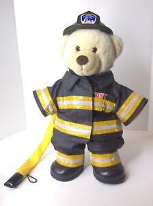 fc4a3432bbd Build A Bear FDNY New York Fireman Firefigter Plush Stuffed Animal ...