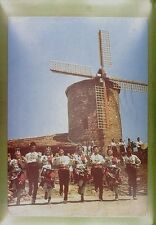 CPA Bulgaria Slantschev Brjag Windmill Moulin Windmühle Costume Folklore w249