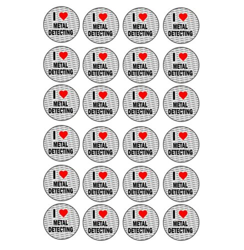 Craft Hobbies Stocking Fillers Gift I Love Metal Detecting 24 Stickers