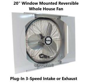 Window Mounted Reversible Whole House Fan 20 Quot Plug In 3