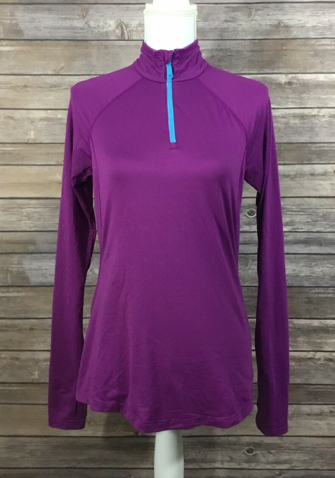 Mountain Hardwear Womens 1/4 Zip Butter Zippity Running Shirt Small Purple O49