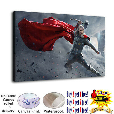 """12/""""x16/""""Thor Character 5 HD Canvas prints Painting Home decor Picture Room Wall"""