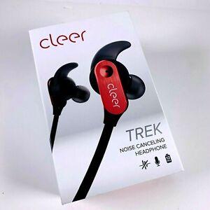 Cleer-Trek-Active-Noise-Cancelling-Headphones-Red-NIB