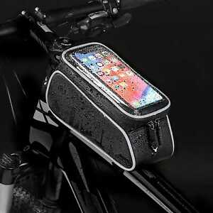 Waterproof-Cycling-Bike-Bicycle-Triangle-Frame-Front-Pannier-Tube-Bag-For-Phone
