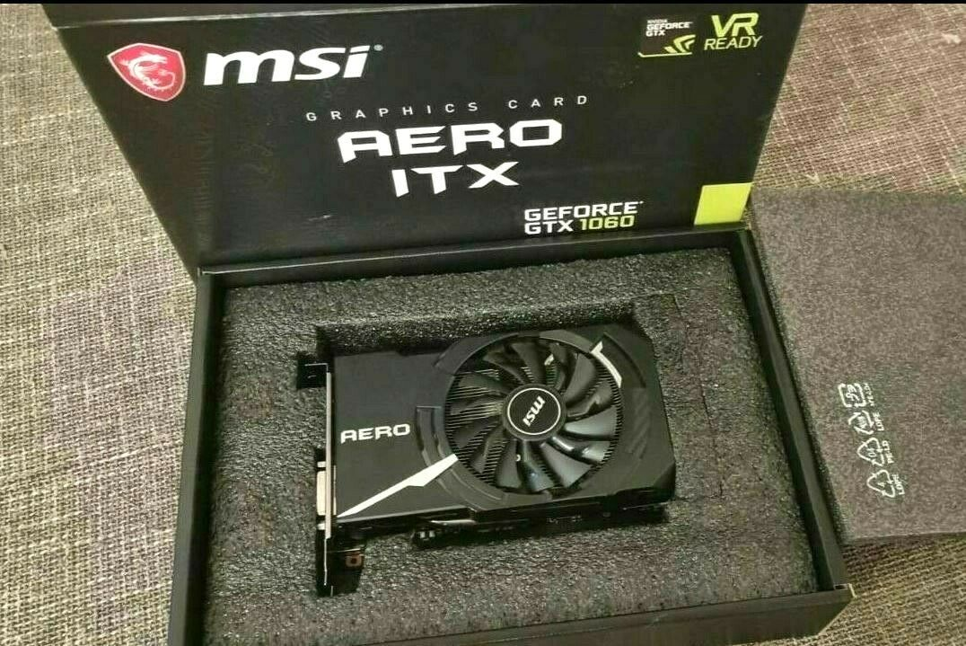 GeForce GTX 1060 Aero ITX 6G OC VR OVP Graphic Arte Mini more like 1650 1050 1660