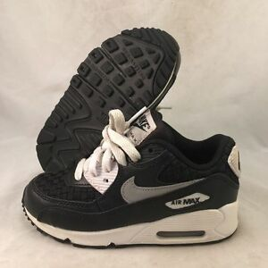 Details about Nike AIR MAX 90 PREM MESH (PS) boys fashion sneakers 724883 101 10.5Y WHITBLK