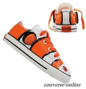 6c9f157a47c3 KID Boy Girl CONVERSE All Star NEMO CLOWN FISH OX Trainers Shoes ...