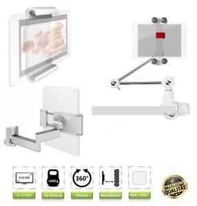 Tablet-Wandhalterung-Halterung-fuer-Apple-iPad-Air-2-Wandhalter-Weiss-9-7-Zoll