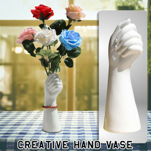 Nordic Hand Vase Holder Flowers Delicate Finger Hold Shape Pot Creative Decor