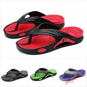 Mens Foot Massage Flip Flops Non-slip Beach Shoes Summer Sandals Slides Slippers
