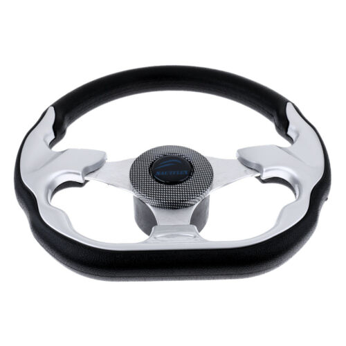 Marine Boat Steering Wheel Aluminum Alloy 3 Spoke 310mm Yacht Sports Wheel