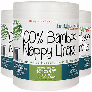 1760 Bamboo Nappy  Diaper Liners/Baby cloth/disposable,organic, 8 rolls