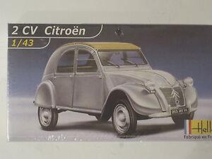2-CV-Citroen-Ente-Oldtimer-Auto-1-43-NEU-Heller-Plastikbausatz