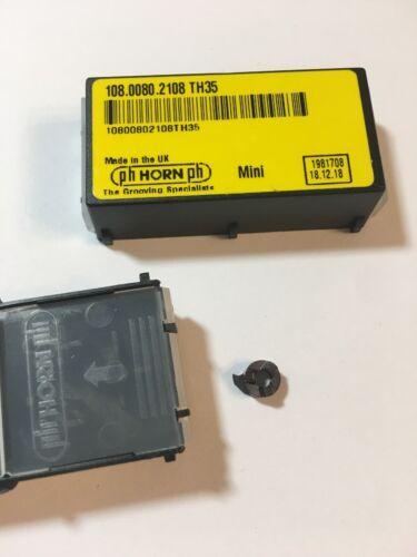 108.0080.2108 TH35 HORN PH CARBIDE GROOVING INSERTS CIRCLIP 0.8mm 1box=2pcs