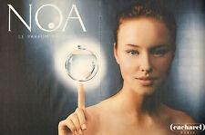 Publicité Advertising 1999  (Double page)  Parfum NOA de CACHAREL parfum prodige