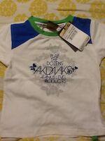 Akdmks Akademiks Jeans Girl's Color Block T-shirt Size 4 Wht/blu/gene $24