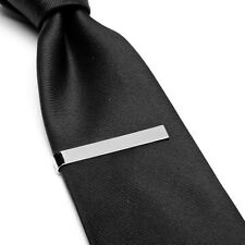 """Polished Silver Stainless Steel 2"""" Inches (50mm) Tie Clip by Ox and Bull - Bar"""