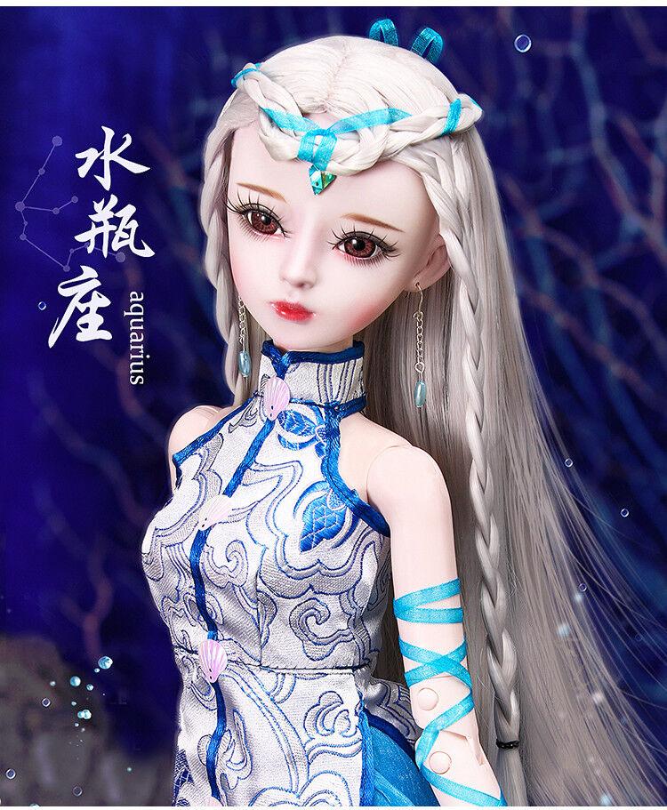 Nuevo 1 3 PVC hecho a mano muñecas articulación de muñeca de BJD MSD realista Bebé Regalo Aquarius 24