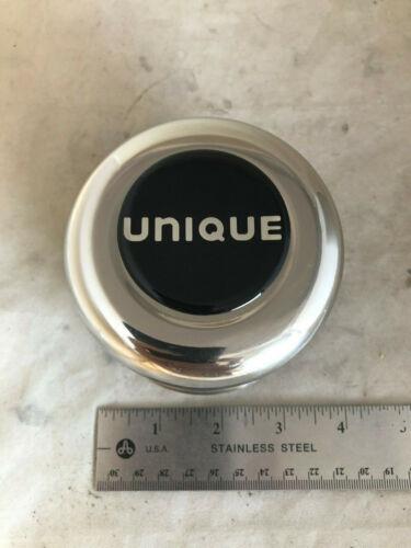 Unique Wheels Rim Hub Cover Chrome Black Logo Medium Center Cap A-SS3424C