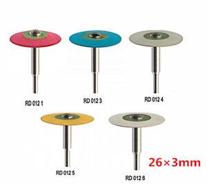 Dental Lab Rubber Diamond Polisher Wheel For Zirconia Porcelain Restoration