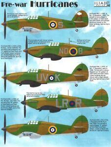 Pre-War Hawker Hurricane Mk I in RAF, RCAF (1/48 decals, Iliad 48001)