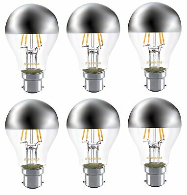6x Sylvania Crown Silver A60 mirror light bulb 4W ES E27 LED 450lm 2700k non dim