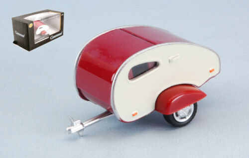 Caravan i beige//red 1:43 campers-roulottes scala cararama