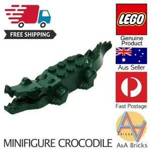 Genuine-LEGO-Minifigure-Alligator-Crocodile-Green-FREE-SHIPPING