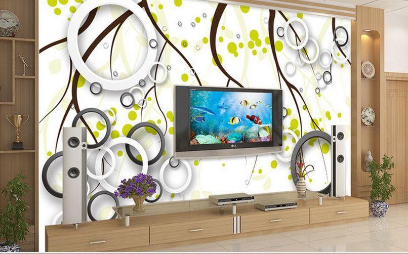 3D Kreis, grüner Punkt  Fototapeten Wandbild Fototapete BildTapete Familie