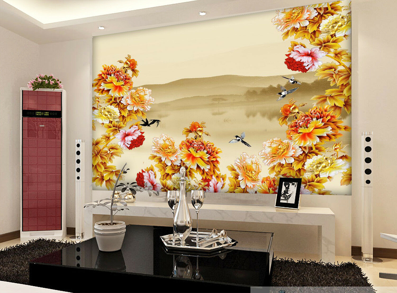 3D Blooming Peony 77 Wall Paper Murals Wall Print Wall Wallpaper Mural AU Kyra