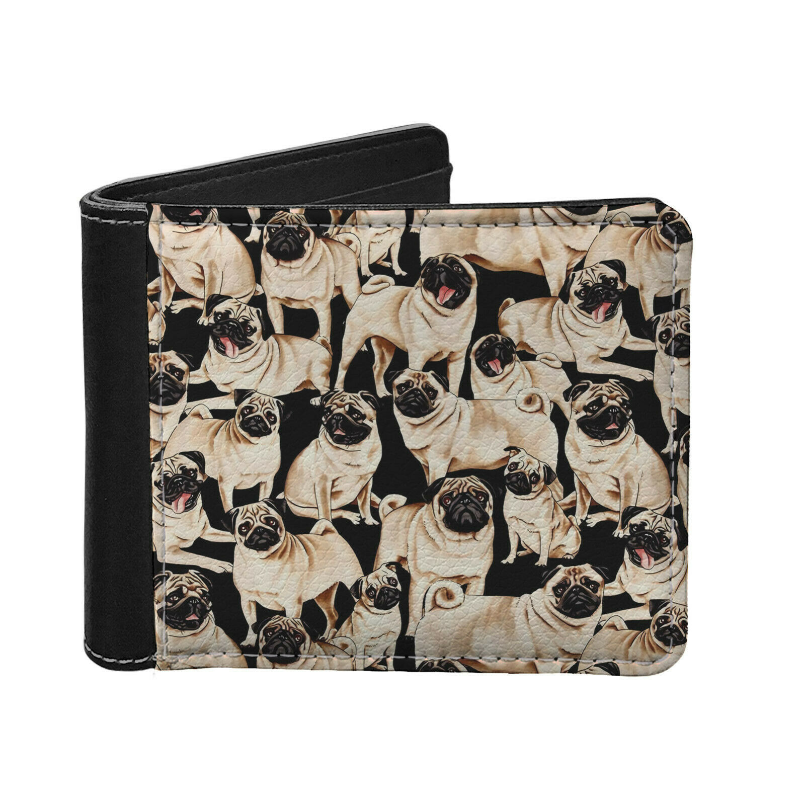 Animals Cute New Mini Leather Wallet Business Credit Card Holder Wallet for Men