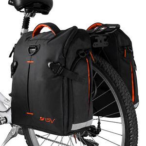 9b0a63fbf25 BV Bike Panniers Cycling Rear Bags Trunk Large Storage Rain Cover ...
