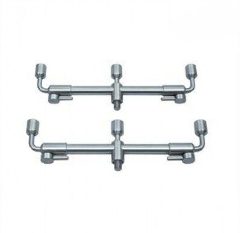Steve Neville Adjustable Swan Neck Buzz Bars *Pair* Stainless Steel NEW Fishing