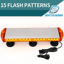 38W Amber Emergency Mini LED Light bar Magnetic Roof Mount Strobe Light Bar