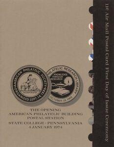 UXC14-11c-Stylized-Eagle-Air-Postal-Card-First-Day-Ceremony-Program