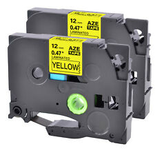 2pk Tz 631 Label Tape Black Yellow Tze 631 For Brother P Touch Pt D600 12mm8m