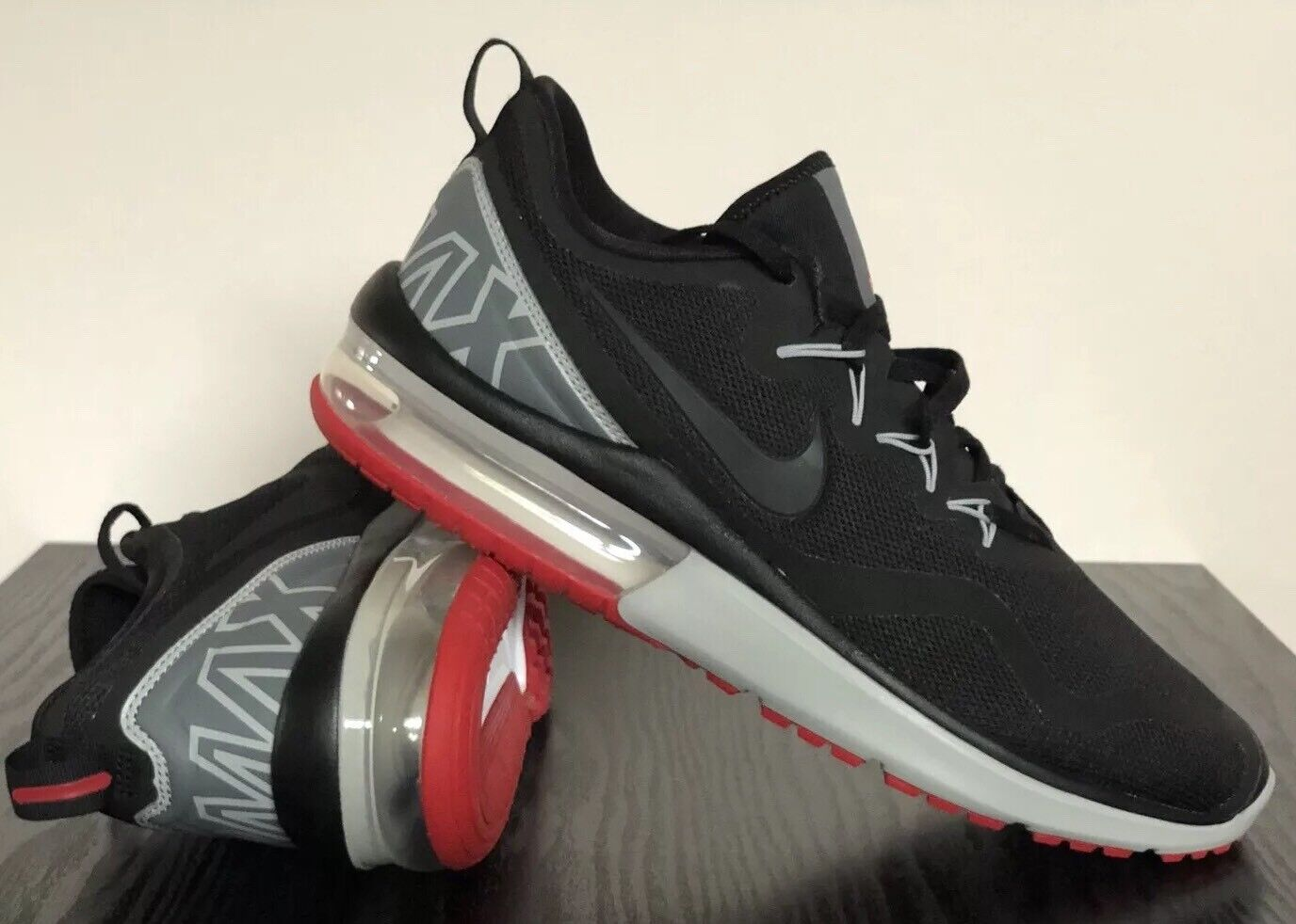 Great discount Nike Men's Air Max Fury Running Shoes Black GYM Red AA5739006 Retail Price reduction