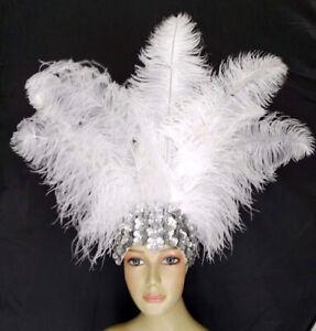Carnival Ostrich Feather Headdress Showgirl Samba Dance
