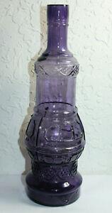 Antique-Fancy-Purple-Large-Decanter-Bottle
