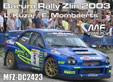 DECALS 1/24 SUBARU IMPREZA WRC - #5 KUZAJ - RALLYE BARUM ZLIN 2003 - DC2423